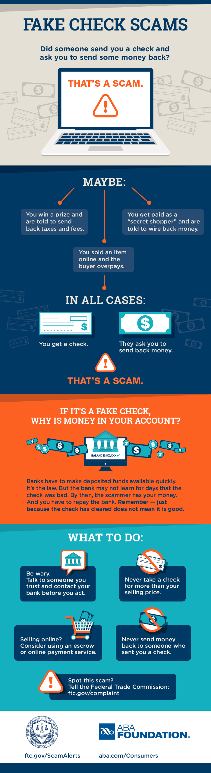 Beware of Fake Check Scams | Honor Bank